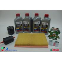 Troca Oleo Castrol 5w40 + Filtros Fox Gol G5 G6 Original Vw