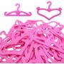 Kit Com 10 Cabides Para Roupa Vestido Da Boneca Barbie