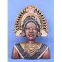 Estatueta Busto Indígena Inca - Acabamento Exclussivo