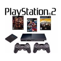 * Playstation 2 Semi-novo Destravado + Jogos E Frete Grátis!