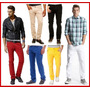 Calça Colorida Masculina Lycra Slim 8 Cores Veste Excelente