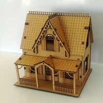 Casa De Boneca - Modelo Faroeste Mdf