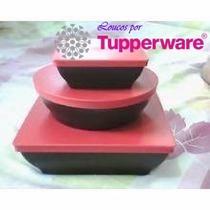 Tupperware Bea Zen Line 3pçs/ Preto Vermelho Produtos Novos
