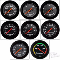 Pressão Turbo Combustivel Vacuo Óleo Ar Street 60mm Cronomac