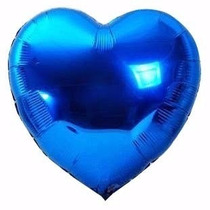 30 Bexiga Balão Metalizado 45cm Hélio Gas Festa Namorados