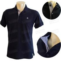 Camisa Polo Masculino Bordado Gola Tricoline Otima Qualidade