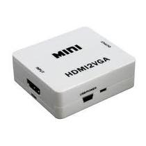 Adaptador Conversor De Hdmi Para Vga - Com Saida Audio