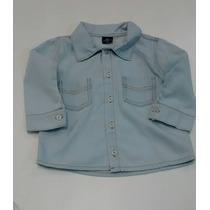 Camisa Jeans Cor Jenas Claro Tam: 2