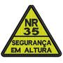 Patch Nr 35 Segurança Em Altura 6x5,2cm Bordado Com Velcro