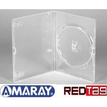 100 Box Dvd Amaray Transparente 100% Original