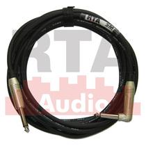 Cabo P10 Guitarra 5m Reto/90 Graus Conectores Amphenol (atc)
