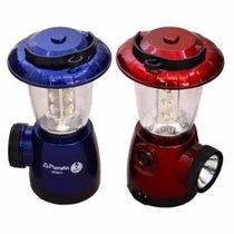 Lampiao C/ Lanterna Eletrica Recarregavel Bivolt 17 Leds