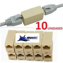 Emenda Rj45 Cabo De Rede 10 Unidades