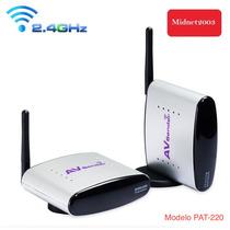 Transmissor De Áudio E Vídeo Wifi 2.4ghz - Pat-220