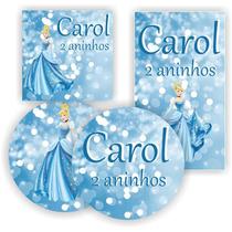Kit Digital Cinderela Princesa Festa Aniversario P Imprimir