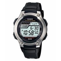 Relogio Casio W 212h-1 Série Ouro-5alarm Timer Crono 100m