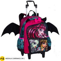 Mochila Com Carrinho Monster High 64190 - Sestini