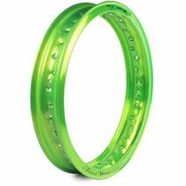 Aro Alumínio Motard 18 X 250 Viper Verde Kawasak Cg Ml Today