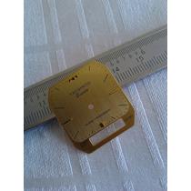 Mostrador Relógio Technos Quadrado Dourado