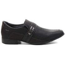 Sapato Social Masculino Pegada Couro Nobuck Preto 23202