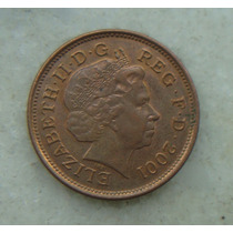 1461 Inglaterra 2001 Two Pence 26mm - Bronze Elizabeth