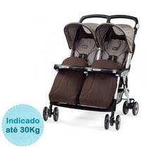 Carrinho De Bebê Para Gêmeos Aria Twin - Chocolat Peg Pr