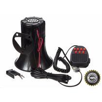 Sirene Automotiva 7 Tons Microfone Sons Policia Bombeiro Som