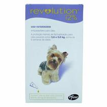 Anti Pulgas Revolution Para Cães 2,6 A 5 Kg 3 Pipetas