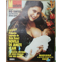 Manchete 1980 - Dolores Guinle / Fafá / Ro Ro / Renê Bonet