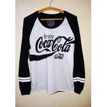 Brooklyn 86, T-shirt Número Feminina Coca Cola Manga Longa