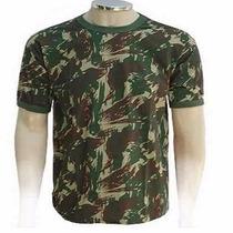 Camisa Camuflada Camiseta Malha 100% Algodão Modelo Eb