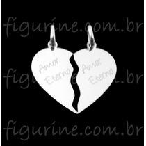 Pingente Coração Cara Metade - Amor Eterno Em Prata 925 !