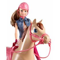 Boneca Barbie Aula De Equitação Cavalo Family - Mattel Cld93