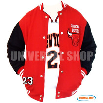 Jaqueta College Agasalho Blusa Varsity Chicago Bulls