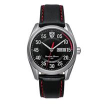 Relógio Scuderia Ferrari Masculino Couro Preto Original