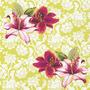Pacote De Guardanapos De Papel Lilies Paper+design 33x33cm