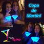 Taças Copo Neon Fluorescentes Glow Tipo: Martini 236ml
