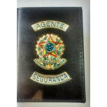 Carteira Porta Funcional Agente Segurança -brasão Republica