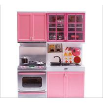 Cozinha De Brinquedo Para Crianças Gabinete Fogão Panelas