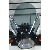 Bolha Universal Moto Com Farol Redondo Intruder 125, Cg, Ybr