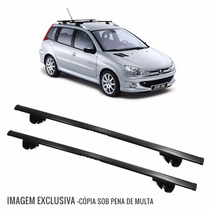 Rack Travessa Peugeot 206 Sw Wagon 02 A 08 Eqmax 6181 Preto