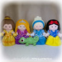 Princesa Disney Kit C/ 5 Personagens 25cm Feltro