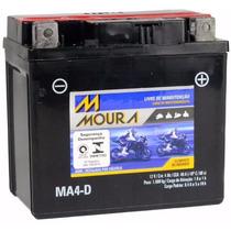 Bateria Ma4-d Moto Moura 4ah Yamaha Ybr125 Factor E/ed...12
