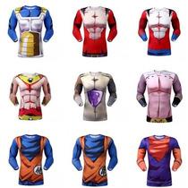 Camisa Hérois Dragon Ball Fitness Goku/ Vegeta/ Picollo