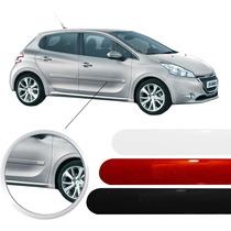 Friso Peugeot 208 Sem Escrita Preto Prata Vermelho Jogo