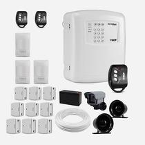 Kit De Alarme Segurança Residencial Completo Ecp 12 Sensores