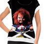 Camiseta Filme Clássico Chucky Boneco Assassino Baby Look