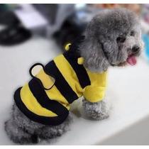 Roupa Cães Cachorro Gato Fantasia De Abelha Capuz Tam M - 12
