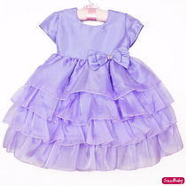 Vestido Princesa Sofia Barbie Luxo Lilás Infantil Com Tiara
