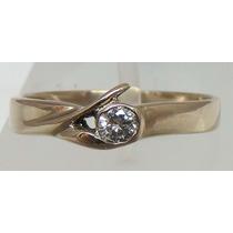 Pocao2005- Anel De Ouro Branco 18k 750 Diamante